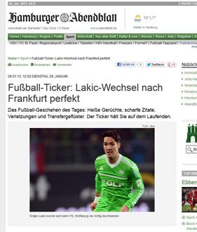 Der Neue: Srdan Lakic. (Screenshoit: Hamburger Abendblatt)