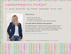 Erst Sportreporterin, jetzt Liebeskummerexpertin? (Screenshot: http://www.liebeskummerpraxis-frankfurt.de)